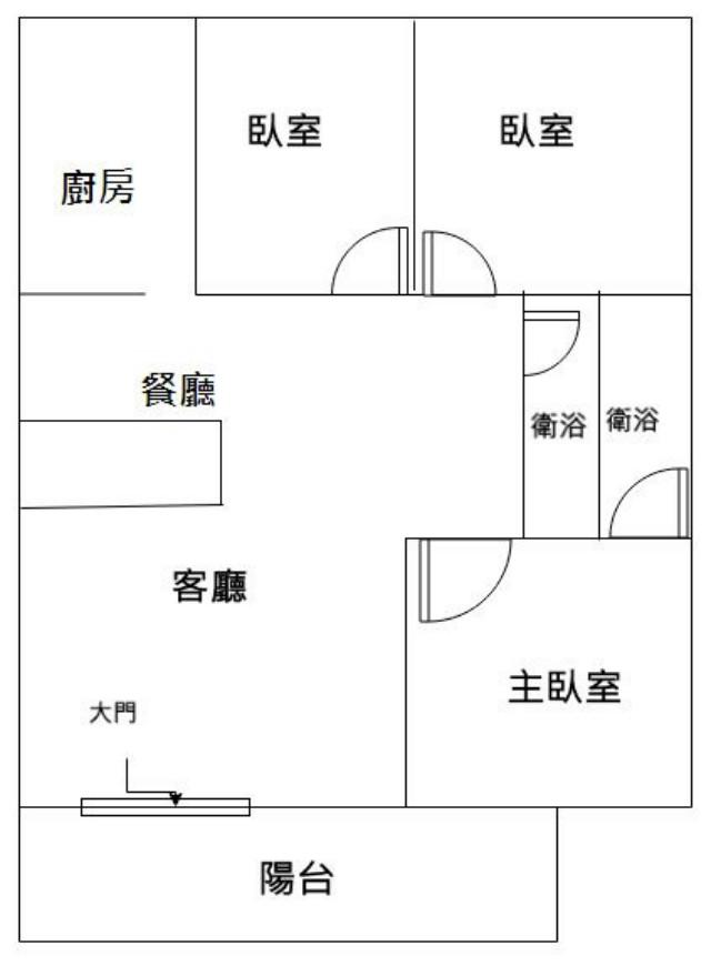 延平國中時尚三房寓,台南市北區公園路